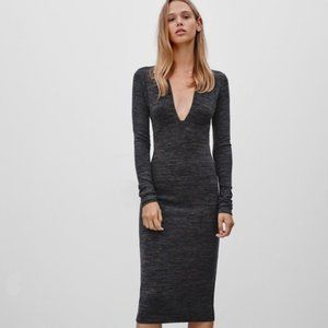 Wilfred Free Abby dress charcoal heather grey XS
